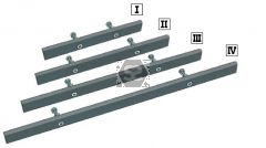 Aigner Mounting Rail Open Ended 230mm