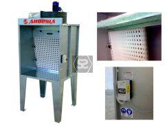 Ardesia Mini Silver1 spray booth