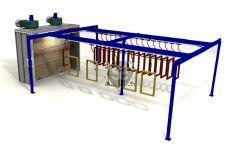 Ardesia Overhead Monorail Conveyor for Spraying