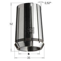 CMT Precision Collet DIN 6388 35x52 EOC-25 D=4mm
