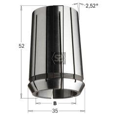 CMT Precision Collet DIN 6388 35x52 EOC-25 D=12.7