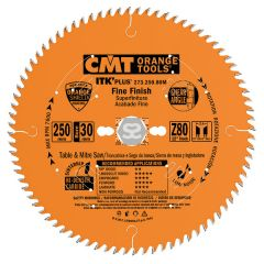 CMT 273 ITK Sawblade thin kerf FINE 250 d=30 z=80