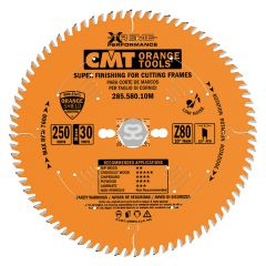 CMT 285 Sawblade Superfinish D=250 d=30 z=80 B=3.0
