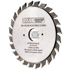 CMT 289 Split scoring Saw D=120 B=2.8-3.6 d=20 z24
