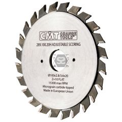 CMT Split.Scoring Saw Blade 120x2.8-3.6x50 Z12+12