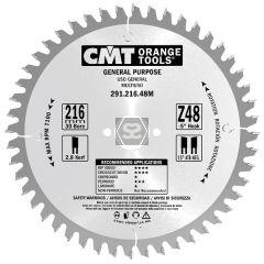 CMT 291 Crosscut sawblade D=216 B=2.8 d=30 z=48