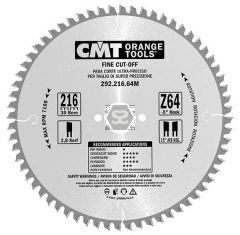 CMT 292 Fine sawblade D=190 B=2.6 d=30 z=64