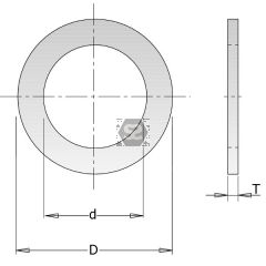 Reduction BUSH For Saw Blades D=25.4-22.2mm