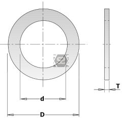 Steel Spacer Ring  D=30/60x5mm