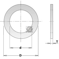 Steel Spacer Ring D=40/60x5mm