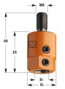 CMT 301 Drill Adaptors S=M8 D=10 LH Nottemeyer