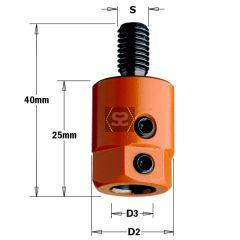 CMT 301 Drill Adaptors S=M8 D=8 RH Nottemeyer