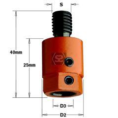 CMT 302 Drill Adaptors S=M10 D=10 LH