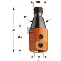 CMT 303 Drill Adaptors S=M10 D=10 LH