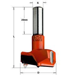 CMT 317 Hinge Drill Bit TCT D=38X57.5 S=10X26 LH