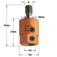 CMT 358 Drill Adaptor  S=M8/9 D=10 LH