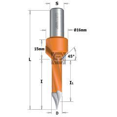 CMT 378 TCT Thru Drill w Countersink L=70 S=10