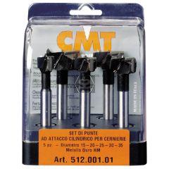 CMT 512 5-PC Drill Bit Set TCT S=10 L=90 RH