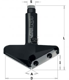 CMT 663 V-Groove CNC A=150 S=20 D=96.5 I=12.4 L95