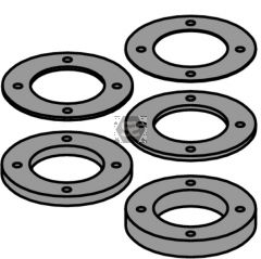 Spacer Ring Kit With Pin Holes For Cutter Head 694