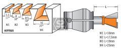 CMT 718 Dovetail Bit for  Hoffman W3 Cutter S=6 D=