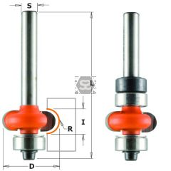 CMT 762 Edge Fluting Router Bit  R=3.2 S=6  D=16