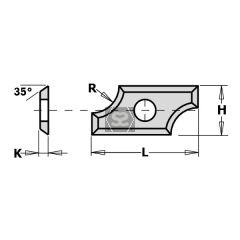 CMT 790.03.00 Blade R3 (19.5X9X1.5) (Box/ 10 pcs)