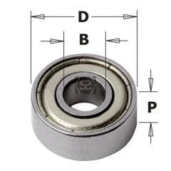 2-piece Bearing Kit/shield + Screw/key 2.5mm (bit