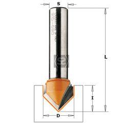 CMT 815 V-Grooving Bit 90 DEG TC S=6.35 D=6.35X8
