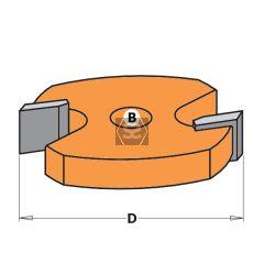 CMT 822 2 Flute Slot Cutter TCT F= 8mm D=44.4X6