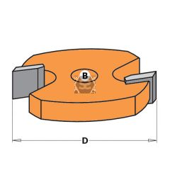 CMT 822 2 Flute Slotter TCT F= 8mm D=44.5 890.537M