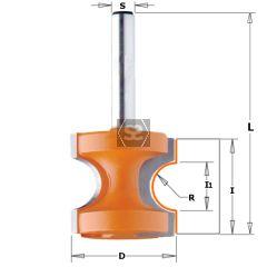 CMT 854 Bull Nose Bit TCT S=6.35 D=22.2X19 R=3.2