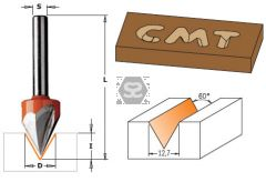 CMT 858 Laser Point Bit TCT S=6.35 D=12.7X11