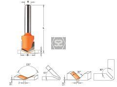 CMT 915 V-Grooving Bit DEG 90 S=8 D=18X7.4X60   R