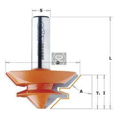 CMT Lock Miter Bit 45-gr. Z2 S=8 D=44.5x18 L=58