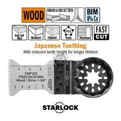 35mm Precision Cut. Japan Toothing For Wood. 5 Pk