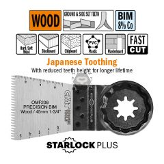 45mm Precision Cut. Japan Toothing For Wood. 5 Pk