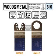 CMT OMM12 32mm Plunge & Flush-cut Wood & Metal 50