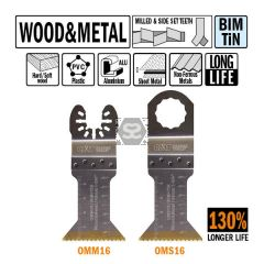 CMT OMM16 45mm XL Life Plunge & Flush for Wood 5pk