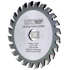 CMT 288 Conical Scoring Blade D=180X4.3-5.5X20 Z36