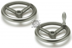 Handwheel 125 dia 12mm bore + keyway + revolving s