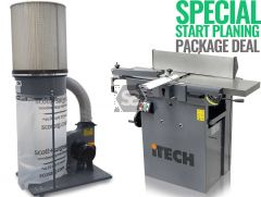 iTECH 260S Spiral Planer + Dust Extractor