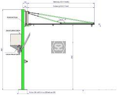 Manut LM Easy+Ergo 3m Fast Light Jib crane Alui
