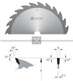 OMAS TCT Rip Saw Blade d=30 D=350 Z=28 V= B=3.5 HW