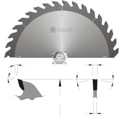 OMAS 324 General Purpose TCT Saw Blades