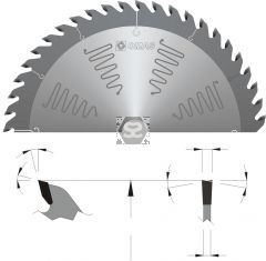 OMAS TCT Noise Reduction Saw Blade d=30 D=300 Z=48
