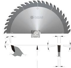 OMAS TCT General Purpose Saw Blade d=20 D=150 Z=24
