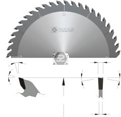 OMAS TCT General Purpose Saw Blade D=350 d=30 Z=56