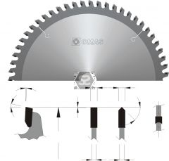 OMAS 339 Wall Saw Blade - Hollow Ground