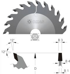 OMAS Scoring Blade D=160 B3=4.3 B4=5.5 Z=36 d=55